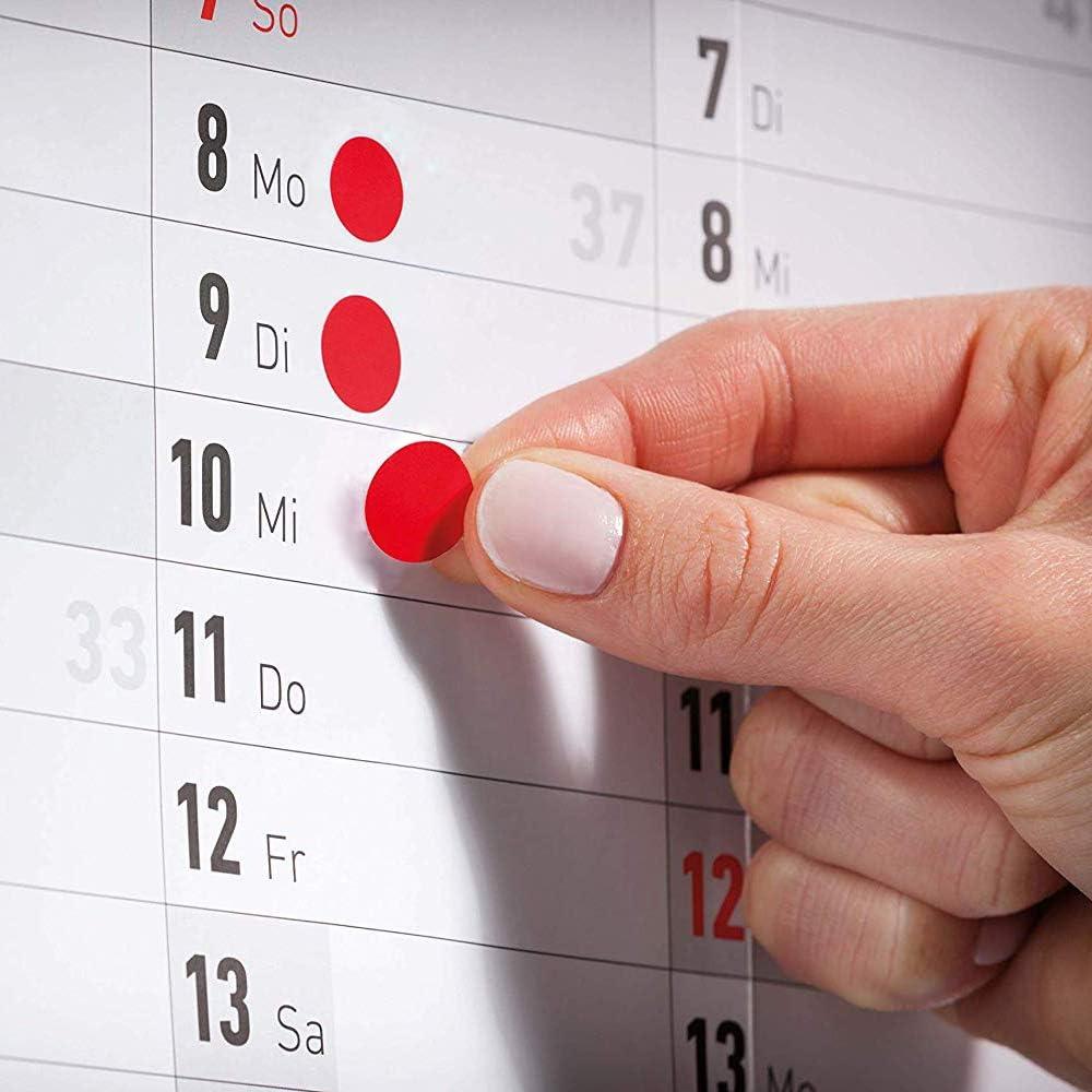 30 fogli Punti di Marcatura Autoadesivi Punti di Adesivo con un Diametro di 1 cm 4950 punti di Marcatura di Adesivi Etichette Rotonde Colorate Punti di Attacco Rotondi in 5 colori
