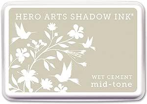 Hero Arts de Tinta Pads-Wet Cemento