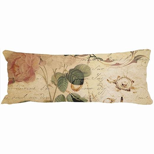 Decorativo almohadas Boho rosa guiones de París francés ...