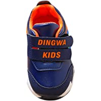 Hopscotch Boys PU Double Strap Shoes in Navy Color