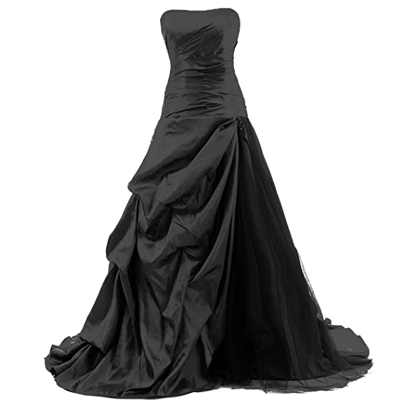 Dresstells Strapless Floor-length Satin Evening Gown Formal Wedding Guest Party Dress