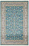 Nain Collection Persian Isfahan Design Traditional Area Rug (5′ x 8′ FT) Blue Living & Dinning room Décor