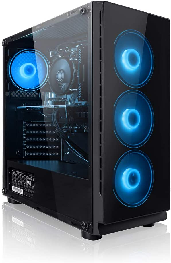 PC Gaming - Megaport Ordenador Gaming PC AMD Ryzen 5 2600 6x3.90GHz Turbo • GeForce GTX1650 4GB • 240GB SSD • 1000GB HDD • 16GB DDR4 2400 • WLAN • Windows 10 Home • PC Gamer • Ordenador de sobremesa