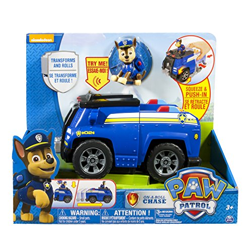 Paw Patrol - 6023997 - Figurine Policier - Chase + Véhicule Sonore Deluxe Paw Patrol