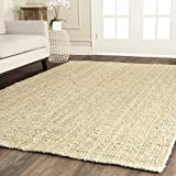 Safavieh Natural Fiber Collection NF730A Hand Woven Ivory Jute Area Rug (6' x 9')
