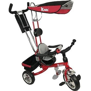 Kiddo nuevo diseño inteligente Triciclo Niños 4-en-1. Triciclo niños. Bici de 3 ruedas. Triciclo Padres - Niño. Nuevo - Rojo: Amazon.es: Deportes y aire ...
