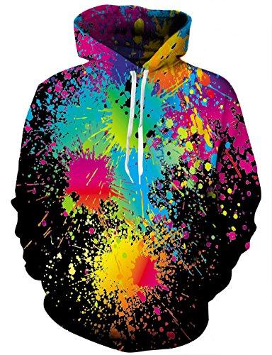 Smoke Mens New Jumper (Hgvoetty Women Hoodies-Tops- Floral Printed Long Sleeve Pocket Drawstring Sweatshirt with Pocket XX-Large)