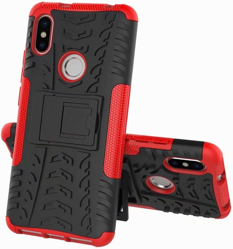XIFAN Funda Xiaomi Redmi S2, Carcasa Elegante [Tough Armor Series] Robusta Armadura Híbrida TPU/PC, Protector Interno TPU a Prueba de Golpes + Soporte Plegable Funda para Xiaomi Redmi S2, Rojo