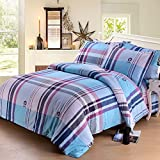 American Country Style Quilt cover/Cotton/Striped Lattice Pattern Quilt cover-F 160x200cm(63x79inch)