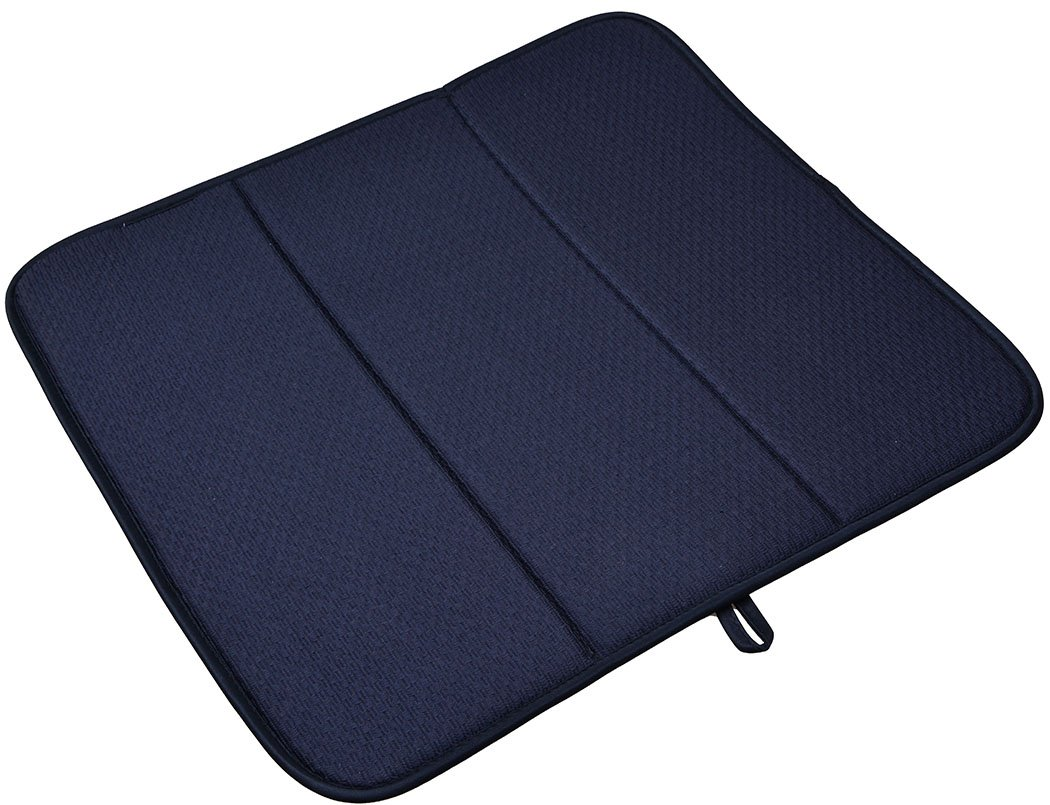 Sinland Microfiber Dish Drying Mats Dish Pad Super Absorbent 16x18 (Black) COMINHKPR77526