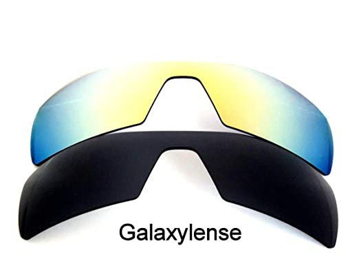 b82b489120a Galaxy Replacement Lenses for Oakley Oil Rig Black 24K Gold Color Polorized  2 Pairs - Black Gold