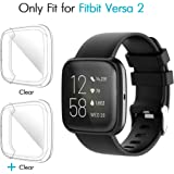 iCoold [2 Pack] Screen Protector Case Design for Fitbit Versa 2,Ultra Slim Soft TPU Full Cover Case All-Around…
