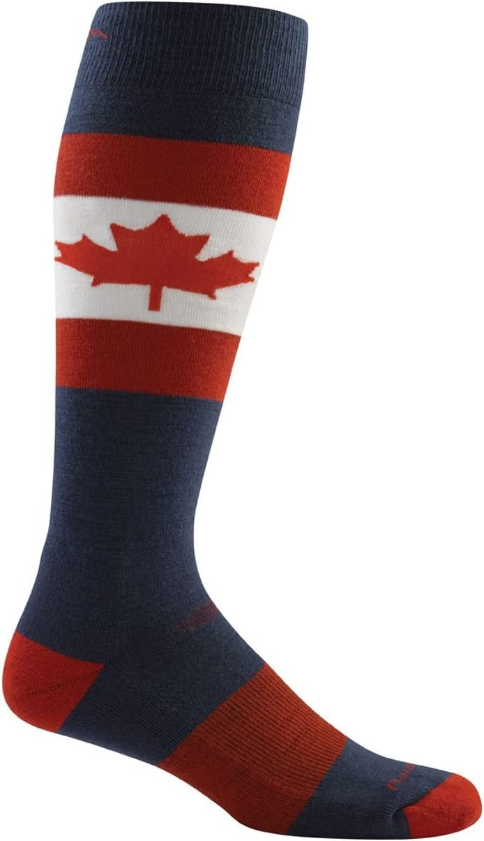 Mens Darn Tough Merino Wool Ski O Canada Over-The-Calf Ultralight Sock