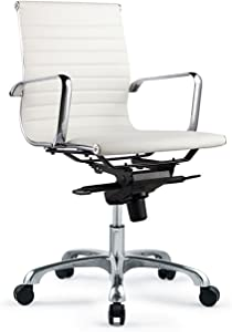 Moe's Home Collection Bern Low Back Office Chair,White