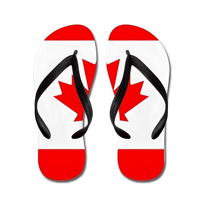 d2f104ae808c87 Royal Lion Kid s Canadian Canada Flag HD Black Rubber Flip Flops Sandals ...