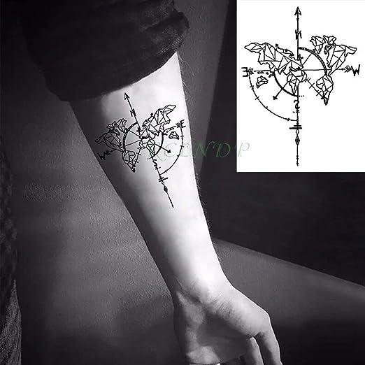 Tatuaje Mapa Del Mundo.Yyoutop Impermeable E Tattoo Stickers Mapa Del Mundo Tatto Flash Tatoo Tattoo Body Art Hand Back Foot Para Chica Mujer Hombre 5set Amazon Es Hogar