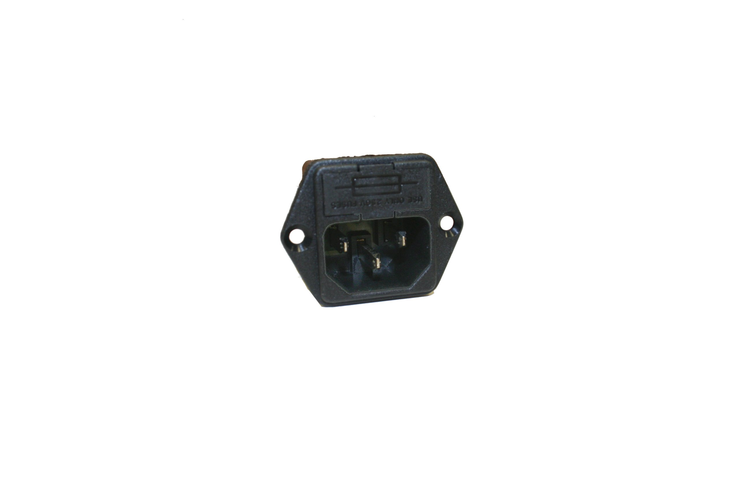 Interpower 83110111 Two Function Single Fused Power Entry Module, C14 Inlet, Single Fused, 10A Current Rating, 250VAC Voltage Rating