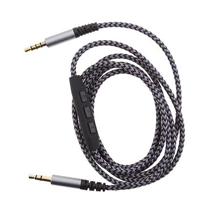 MagiDeal Cable de Audio Estéreo Trenzado Auxiliar de 3.5mm (Macho A Macho) Volumen