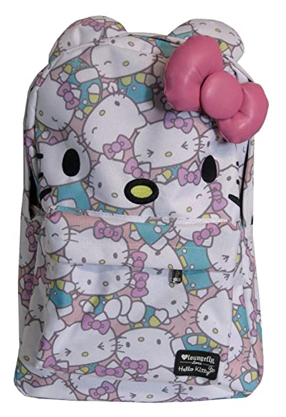 2b15803ce Loungefly Hello Kitty Pastel Faces School Backpack Book Bag: Amazon.ca:  Clothing & Accessories