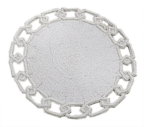 - Fennco Styles Glass Beads Chain Link Design Beaded Placemat One Piece 15