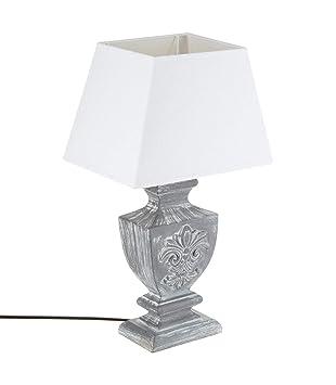 Charme Gris Esprit Grande D'autrefois Lampe Poser À Coloris Patiné WDH92IEY