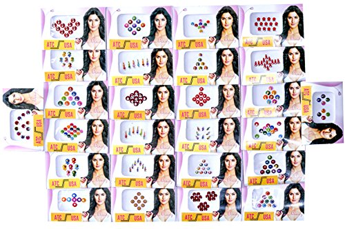 26 Different Packets of India Traditional Bindi Tika Tattoo - Free Shipping