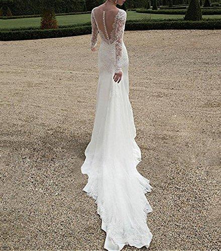 Mingxuerong Hochzeitskleider Stretch Satin VAusschnitt Brautkleider ...