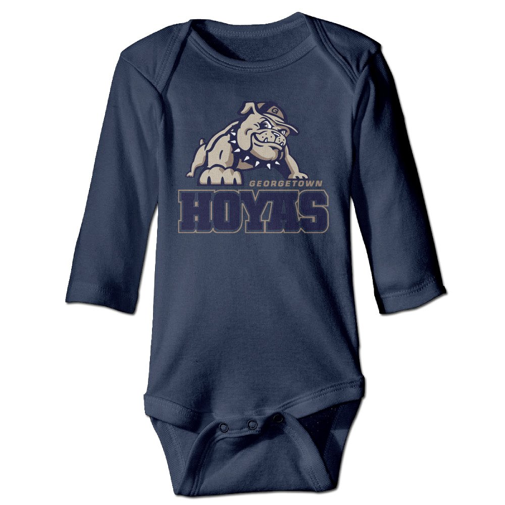 ElishaJ Georgetown University Babys Unisex Long Sleeve Infant Snapsuit Navy