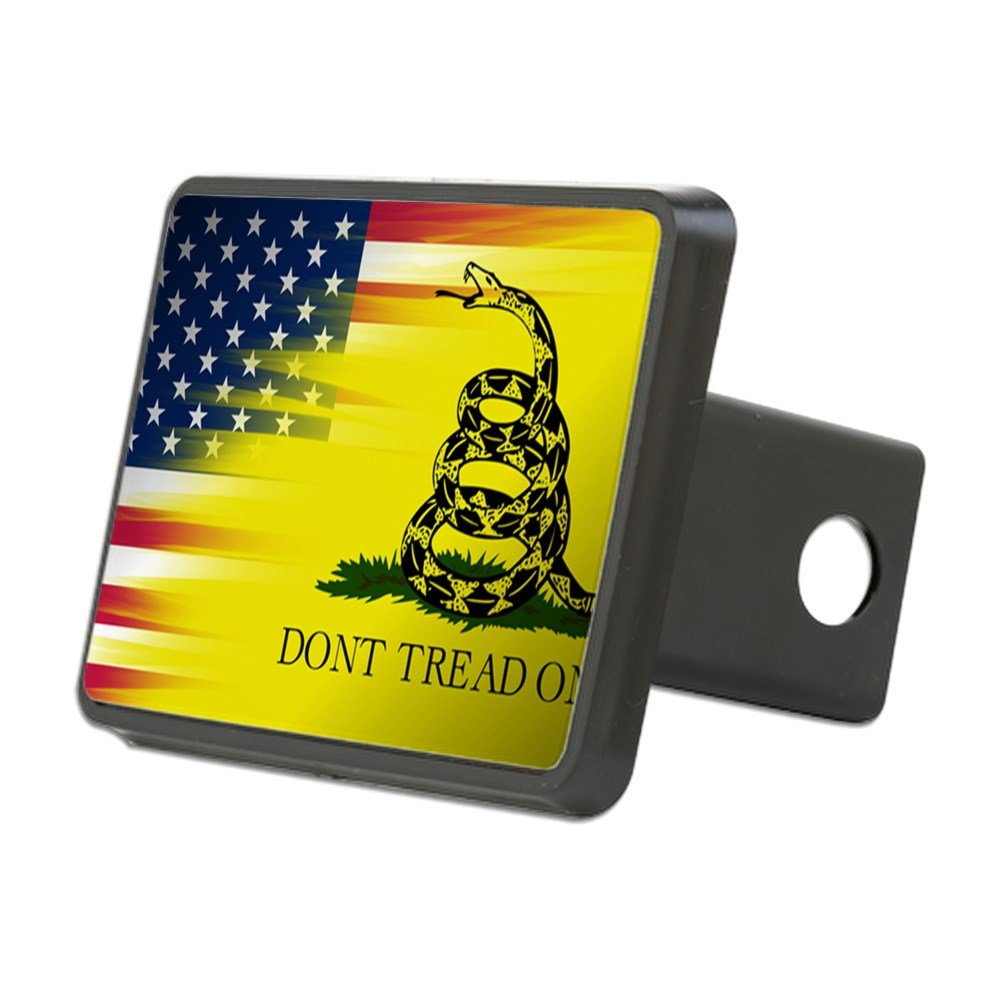 CafePress - American and Gadsden Flag - Trailer Hitch Cover, Truck Receiver Hitch Plug Insert