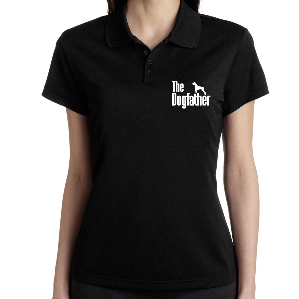 Teeburon The Dogfather Boxer Polo Camisa Mujer: Amazon.es: Ropa y ...
