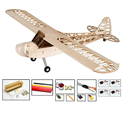 Dancing Wings Hobby S0804B RC Airplane 4CH Radio Remote Controlled  Electronic Aircraft Balsa Wood Plane Model Wingspan 1180mm J3 Kit + Power  System +