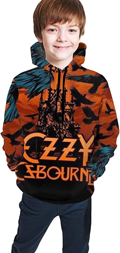 NOT Ozzy-Osbourne-Diary-of-A-Madman Youth Boys Girls 3D Print Pullover Hoodies Hooded Seatshirts Sweaters