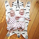 Front Facing Changing Table Kids Crawling Mat Baby Play Crawl Mat Baby Blanket Floor Swaddle Blankets Wrap Trow for Kids (Tiger)