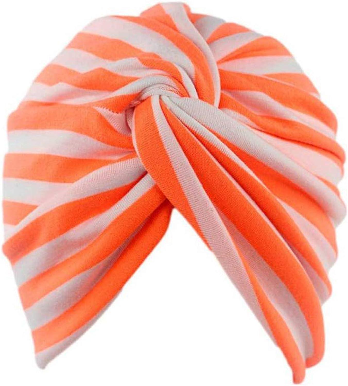 New Women Stripe Cancer Chemo Hat Beanie Scarf Turban Head Wrap Cap Headdresses for Women