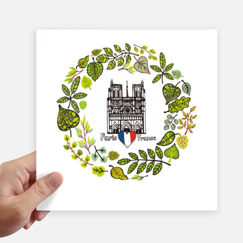 DIYthinker Notre Dame Cathedral Paris France Sticker Tags Wall Picture Laptop Decal Self Adhesive