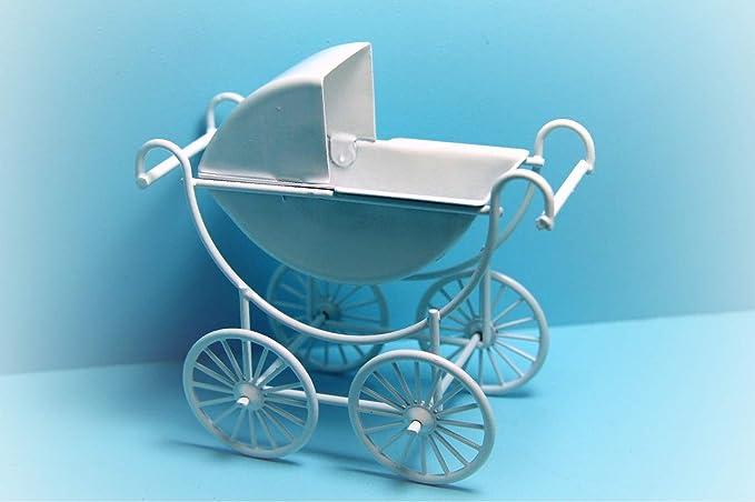 Amazon.com: Dollhouse Carro de bebé/cochecito en blanco ...