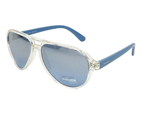 904e6b00c3b1 Amazon.com: Police sunglasses (SPL-112-M 880X) Transparent Crystal ...