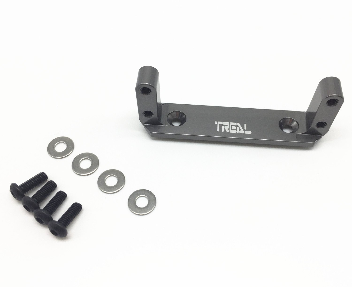 Treal Alloy Axle Servo Mount for Axial Wraith RC Model Hop-ups - Gray