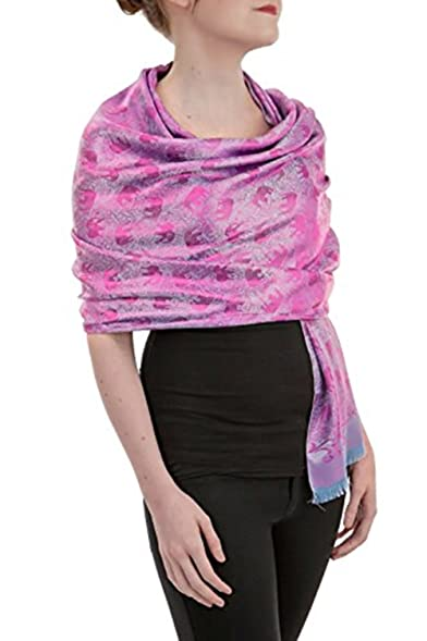 opulent luxury fashion pashmina wrap scarf for women reversible soft luxurious premium authentic silk shawl