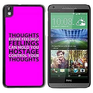 PC/Aluminum Funda Carcasa protectora para HTC DESIRE 816 BIBLE Thoughts And Feelings / JUSTGO PHONE PROTECTOR