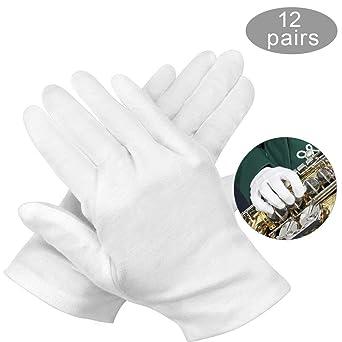 guantes de algodon blancos,guantes hidratantes de algodon,guantes hidratantes,guantes de algodon,guantes de algodon para manos secas,guantes de inspección moneda joyería: Amazon.es: Industria, empresas y ciencia