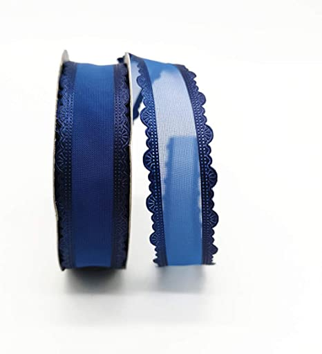 "25mm 5 yds 1/"" Organza Ribbon Handmade Ribbon Gift Packaging Wedding Decoration"