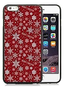 Individualization iPhone 6 Plus Case,Merry Christmas Pattern Black iPhone 6 Plus 5.5 TPU Case 1