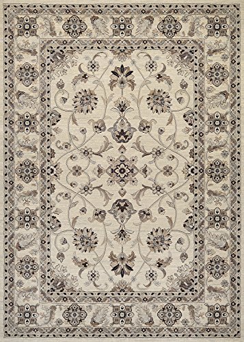 Couristan Everest Collection Rosetta Rug, 8 by 10-Feet, Ivory (Everest Couristan Rug Rectangle)