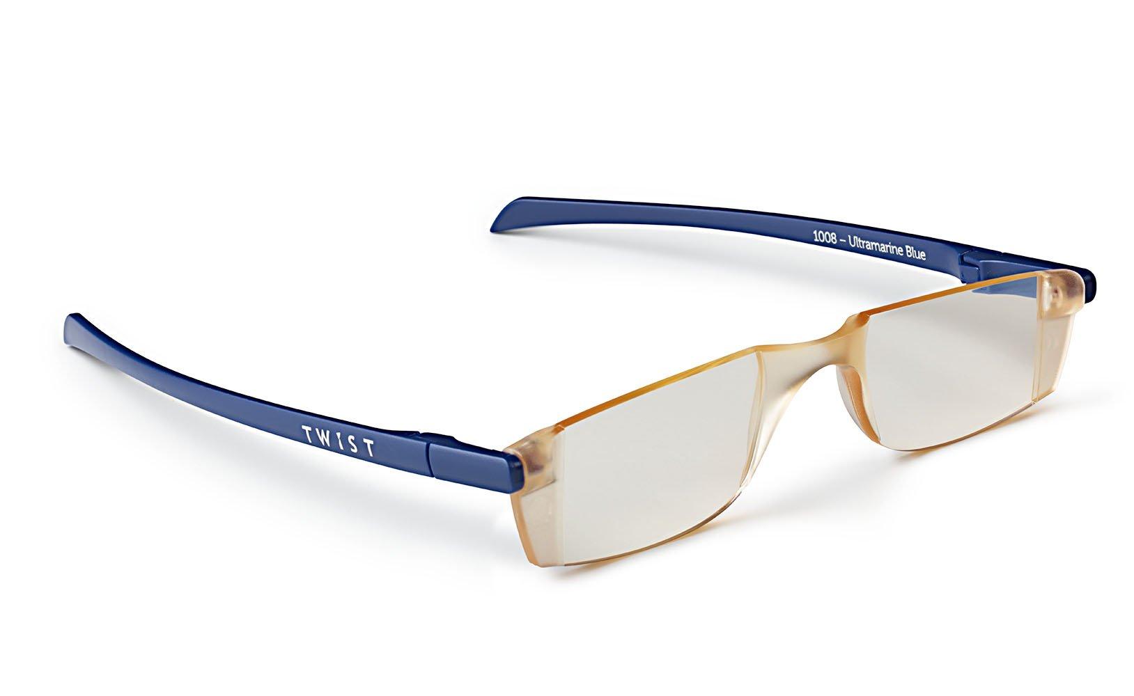 TWIST ONE type: Flat Folding Computer Reading Glasses (+2.0, Ultramarine Blue)
