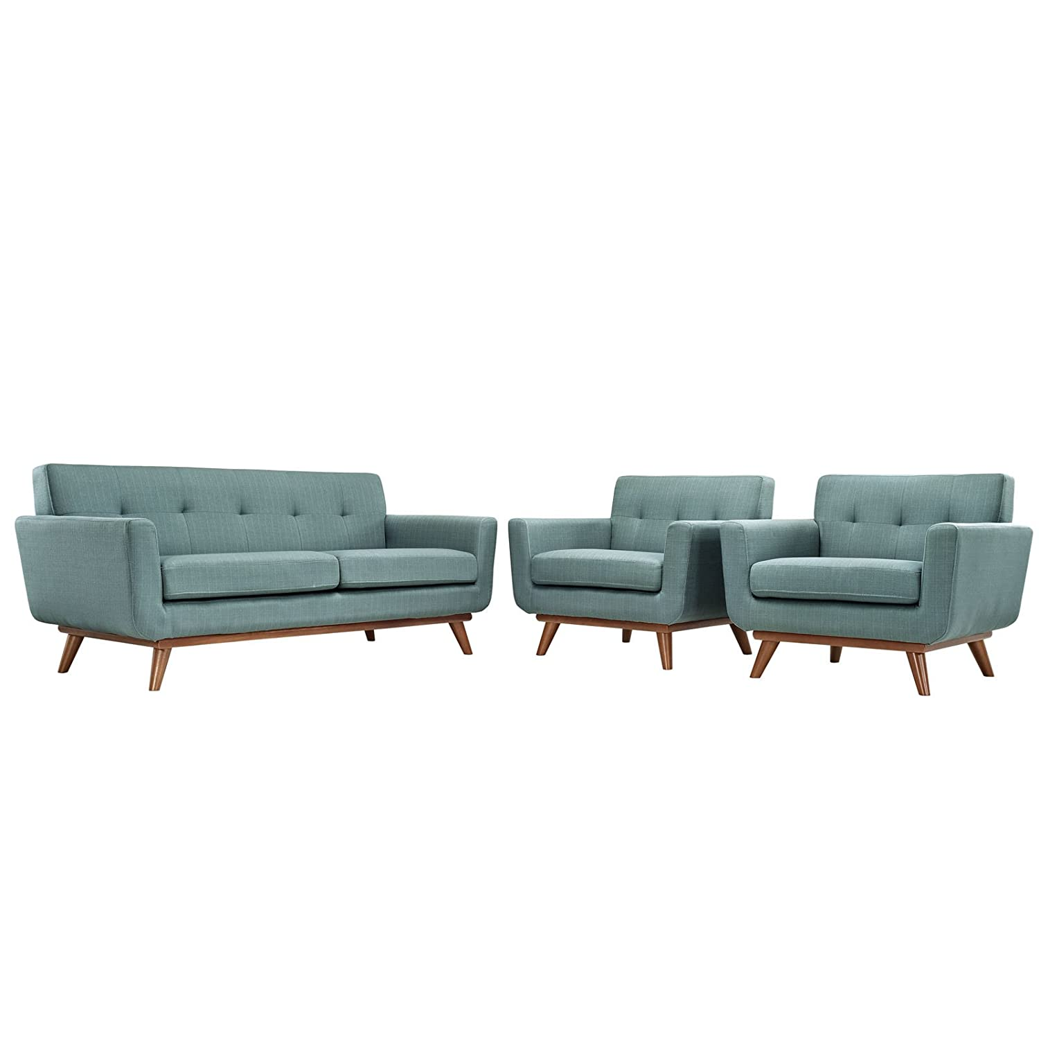 Modway Engage Armchairs and Loveseat - Laguna - Set of 3