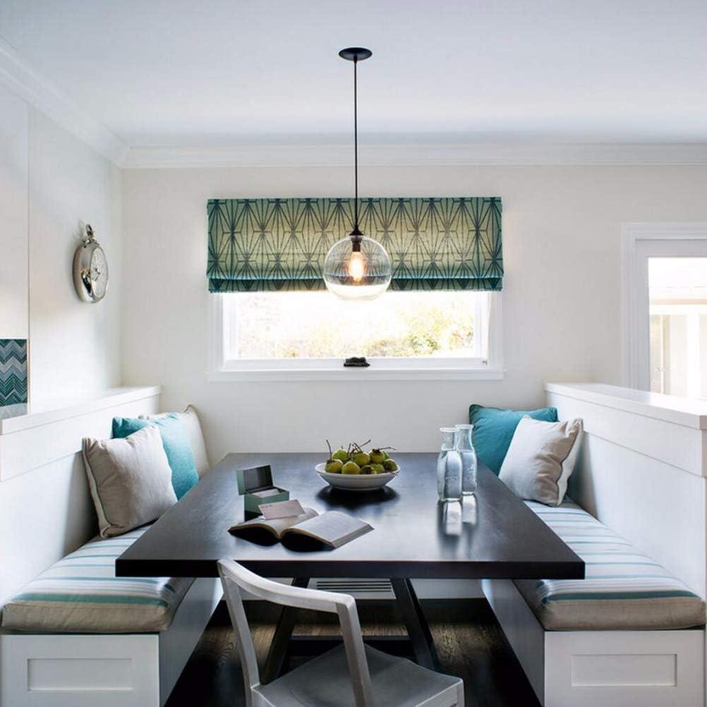 Moderne Hängeloft Klarglas Pendelleuchte Industriedekor Leuchten E27 220 V Küche Restaurant Wohnzimmer Schlafzimmer(klar) 8#klar