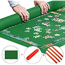 """Portable Jigsaw Puzzle Roll Up Mat Puzzle Saver Storage Felt Mat Board Improved 36""""x 24"""", 300 to 1000 pieces"""