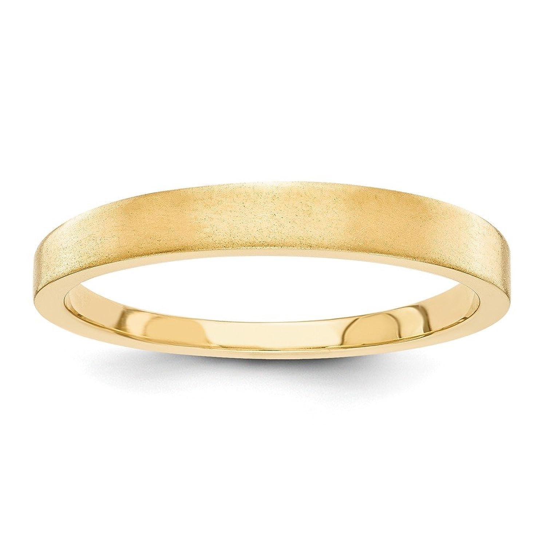 14k 3mm Tapered Satin Mens Womens Wedding Anniversary Band Finger Size 4