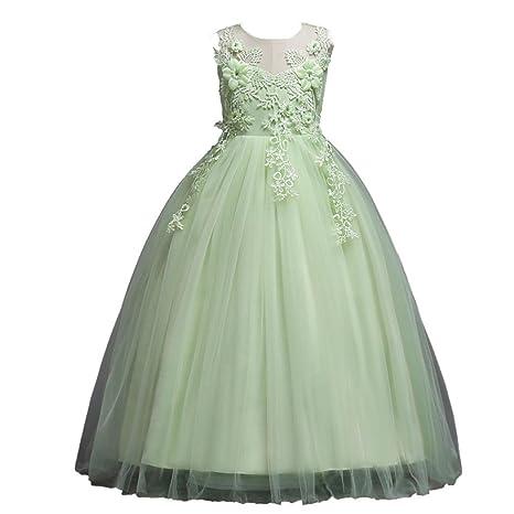Trada Kinder Kleid, Prinzessin Blumenmädchen Brautjungfer Festzug Lace Tutu Tüll Kleid Hochzeitskleid Partyskleid Karneval Fe